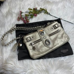 Vintage Coach Platinum Bridget Handbag